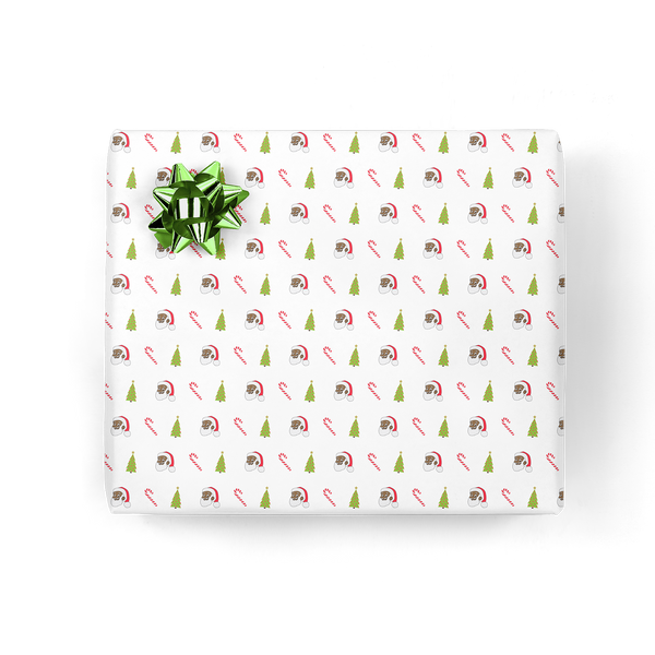 Clarence Claus™ Candy Canes and Trees Gift Wrap