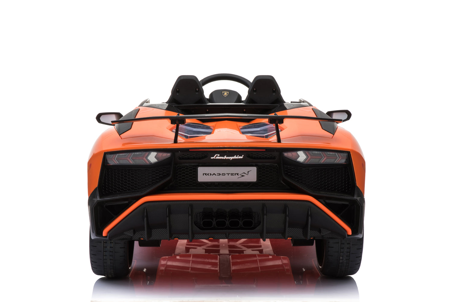 Licensed Lamborghini Aventador SV 12V Ride on Car With Remote - Orange