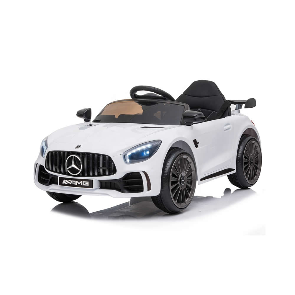 Licensed Mercedes Benz GTR 12v Kids Ride on Car with Remote - White