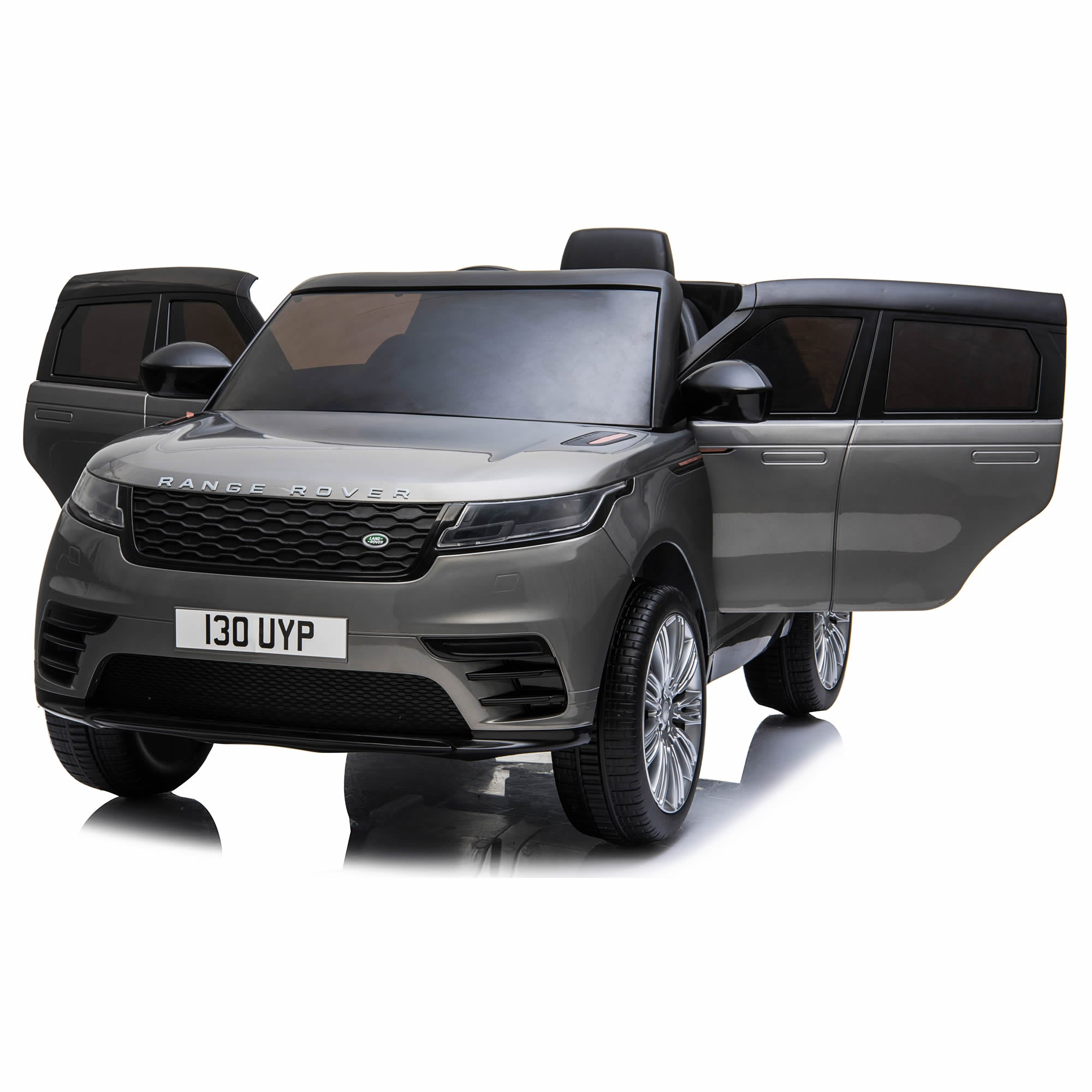 Licensed Range Rover Velar 12V Kids Ride on Car with Remote - Grey