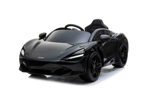 Licensed McLaren M720S Battery Operated Rechargeable 12V Ride on Car - Metallic Black