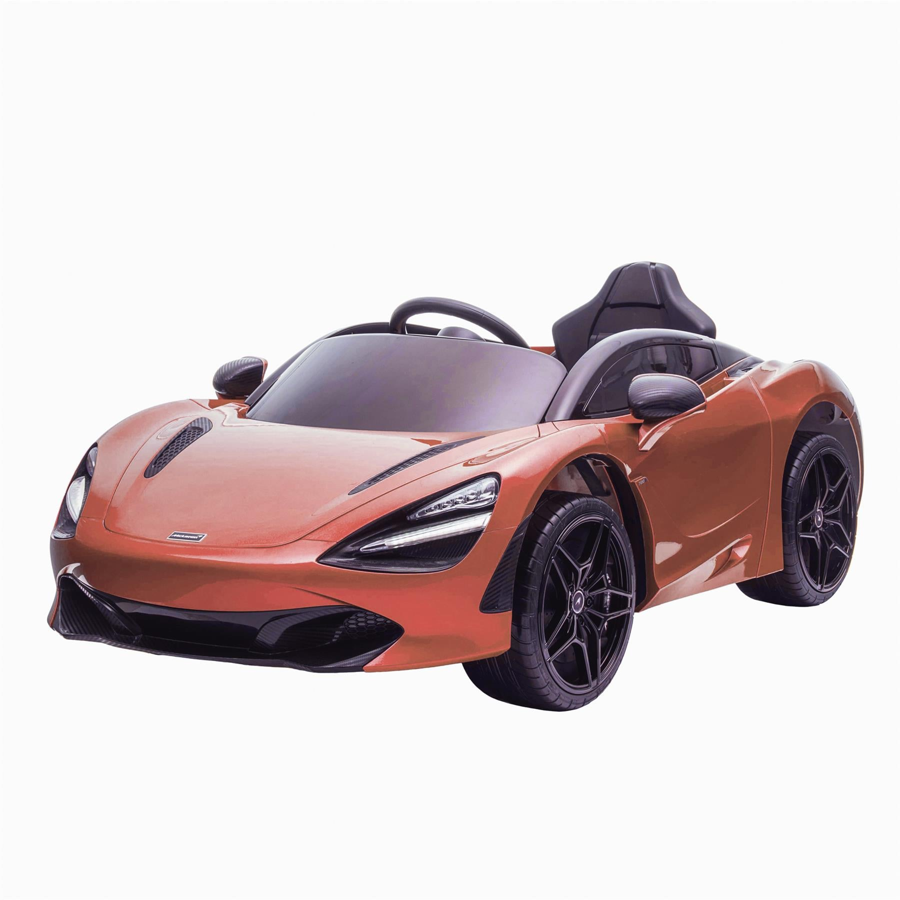 Licensed McLaren M720S Battery Operated Rechargeable 12V Ride on Car - Metallic Orange