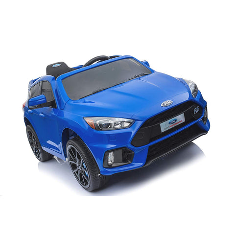 Licensed Ford Focus RS Ride on 12v Kids Car With Remote Control - Blue