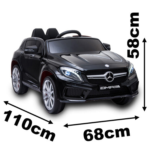 Licensed Mercedes AMG GLA45 12V Kids Ride On Car With High Doors - Black