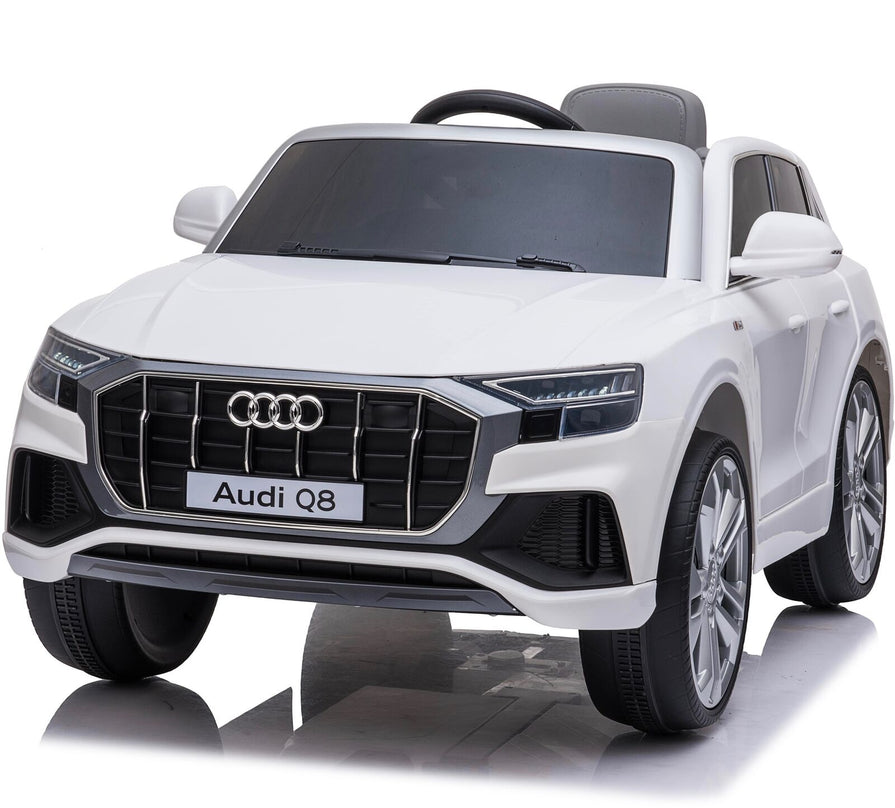 Licensed 12V Audi Q8 Children's Battery Operated 12v Ride on SUV - White