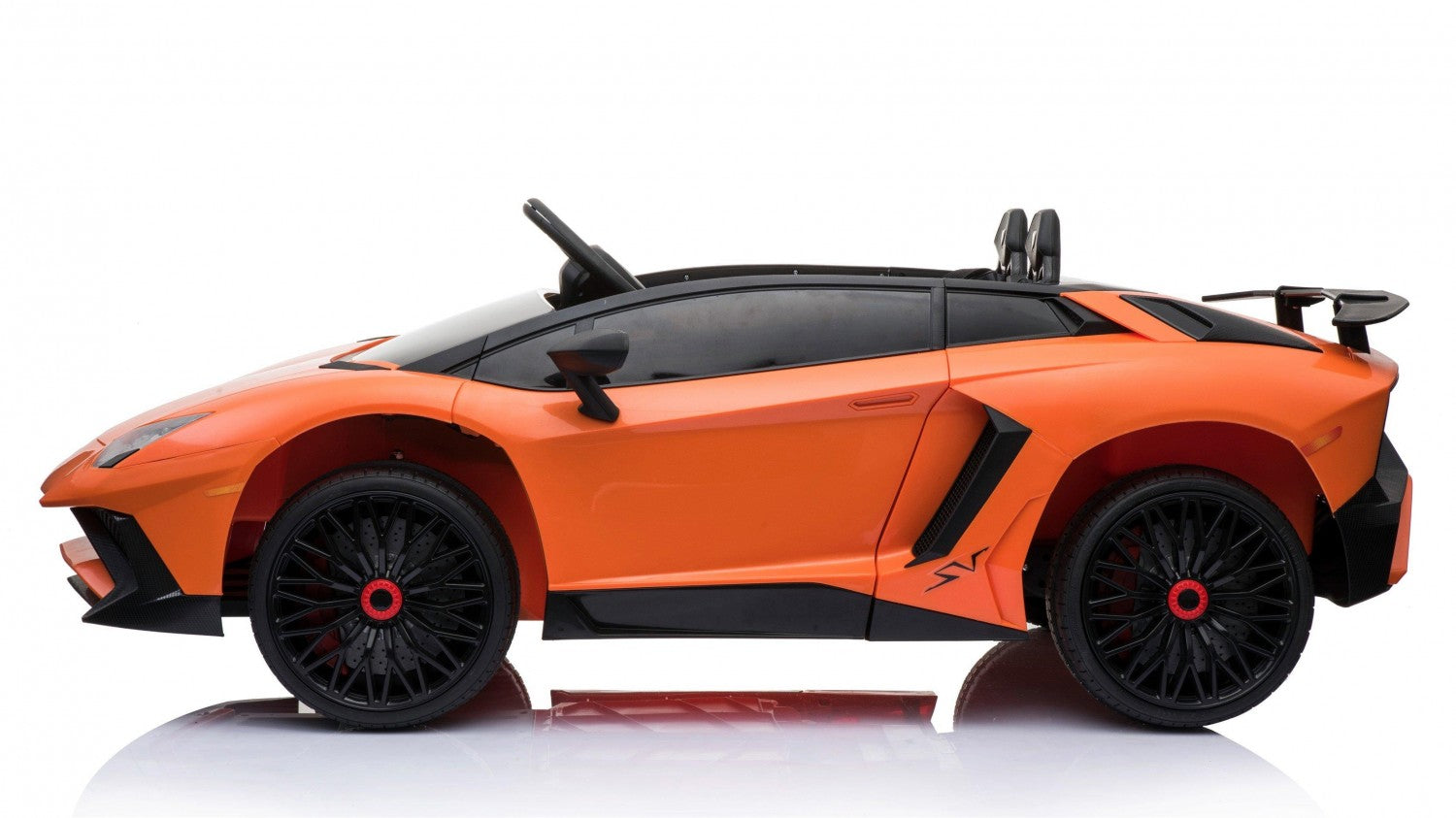 Lamborghini Aventador SV 12V Ride on Car With Remote - Orange