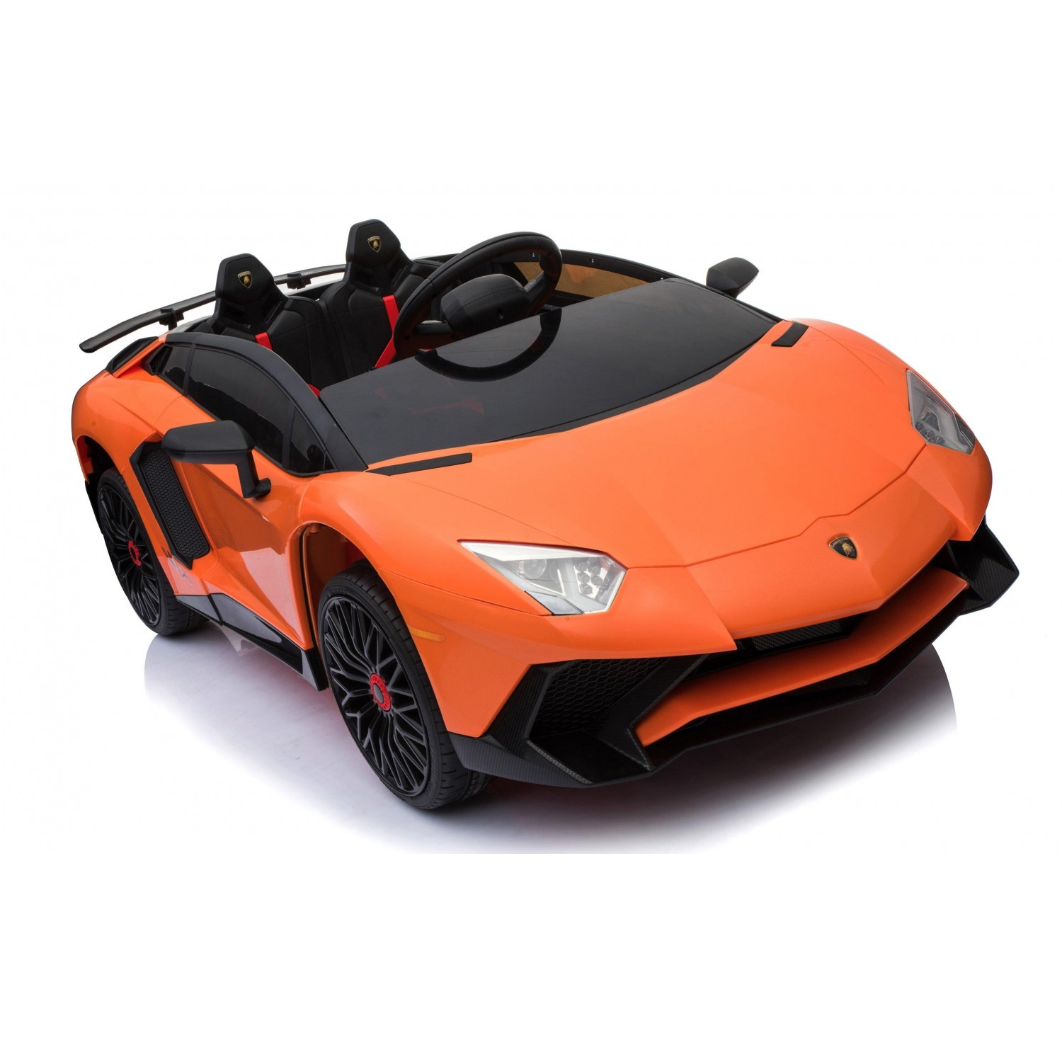 Lamborghini Aventador SV 12V Ride on Kids Electric Car With Remote Control - Orange