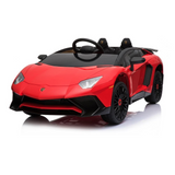 Lamborghini Aventador SV 12V Ride on Kids Electric Car With Remote Control - Red