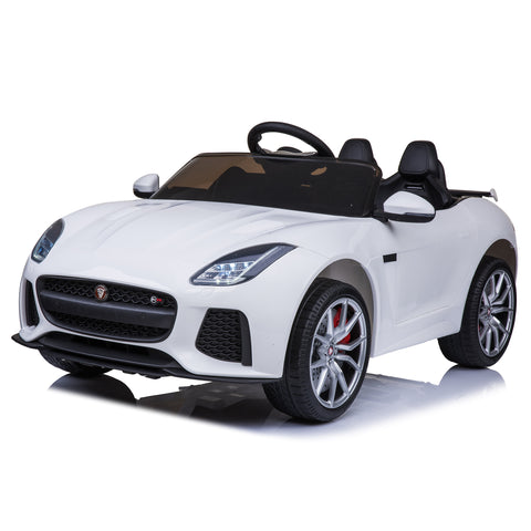Jaguar F-Type SVR Compact 12v Kids Car with Remote - White
