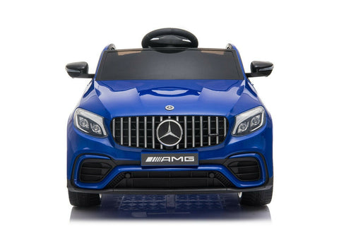 Licensed Mercedes Benz GLC63S 12V Electric Ride on Kids Car with Remote Control - Metallic Blue