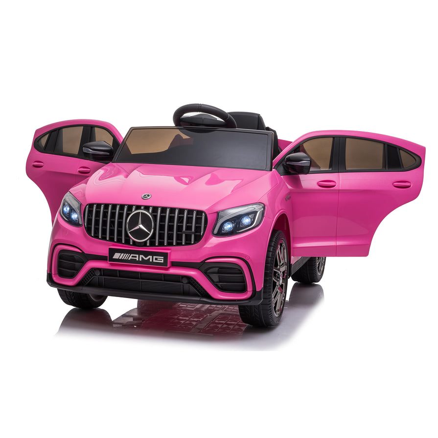 Licensed Mercedes Benz GLC63S 12V Ride on Kids Car with Remote - Pink