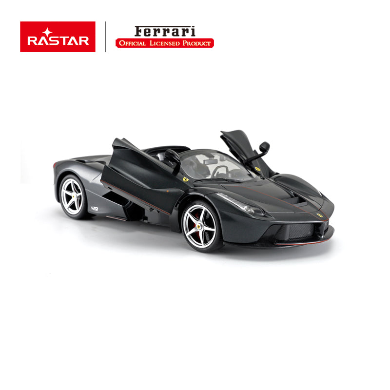 Christmas Sale RC 1:14 Ferrari Laferrari Aperta Kids Remote Control Toy Car - Black