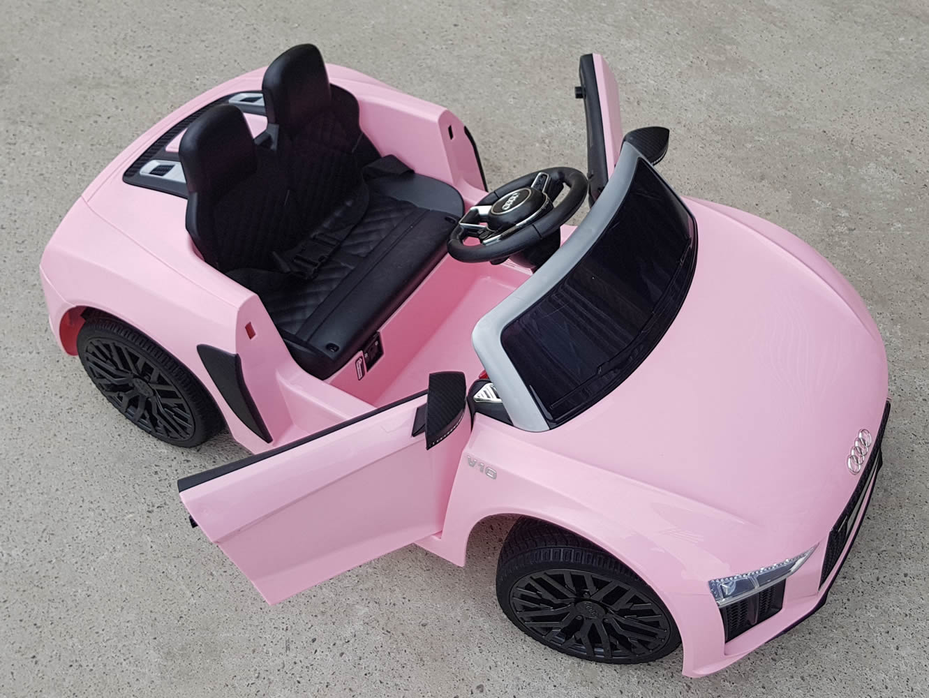 Licensed Audi R8 Spyder Compact 12v Kids Ride on Car with Remote - Pink