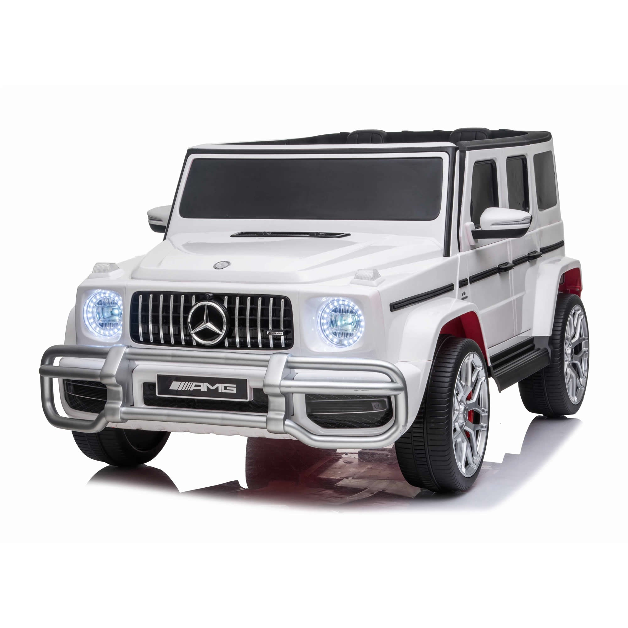 Mercedes G63 24V 4WD Electric Ride on Car with Remote Control - White