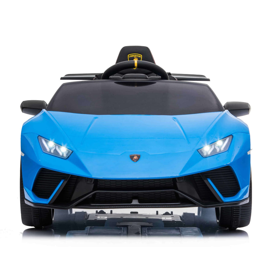 Licensed Lamborghini Huracan 12V Kids Ride on Car With Remote - Blue