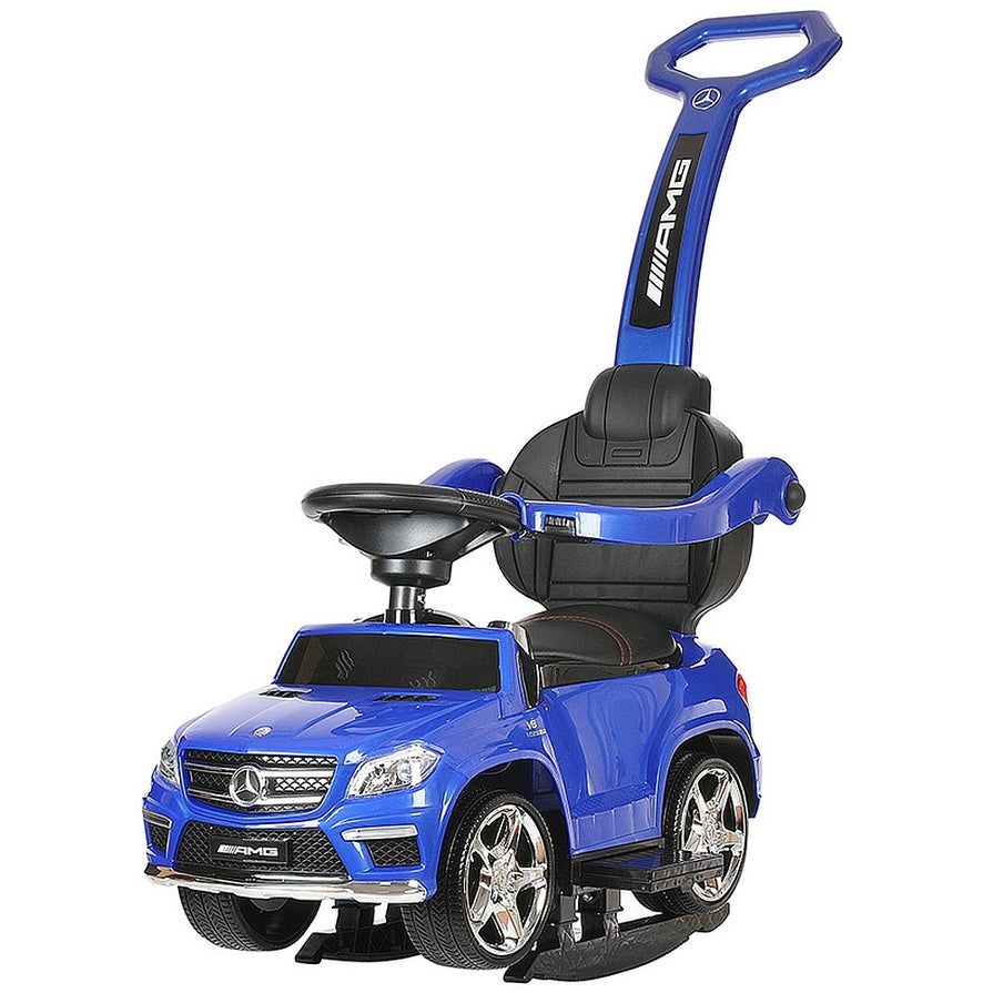 Licensed Mercedes GL63 Multi-Function Foot to Floor Ride on Kids Car - Blue