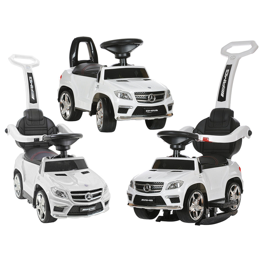 Licensed Mercedes GL63 Multi-Function Foot to Floor Ride on Kids Car - White