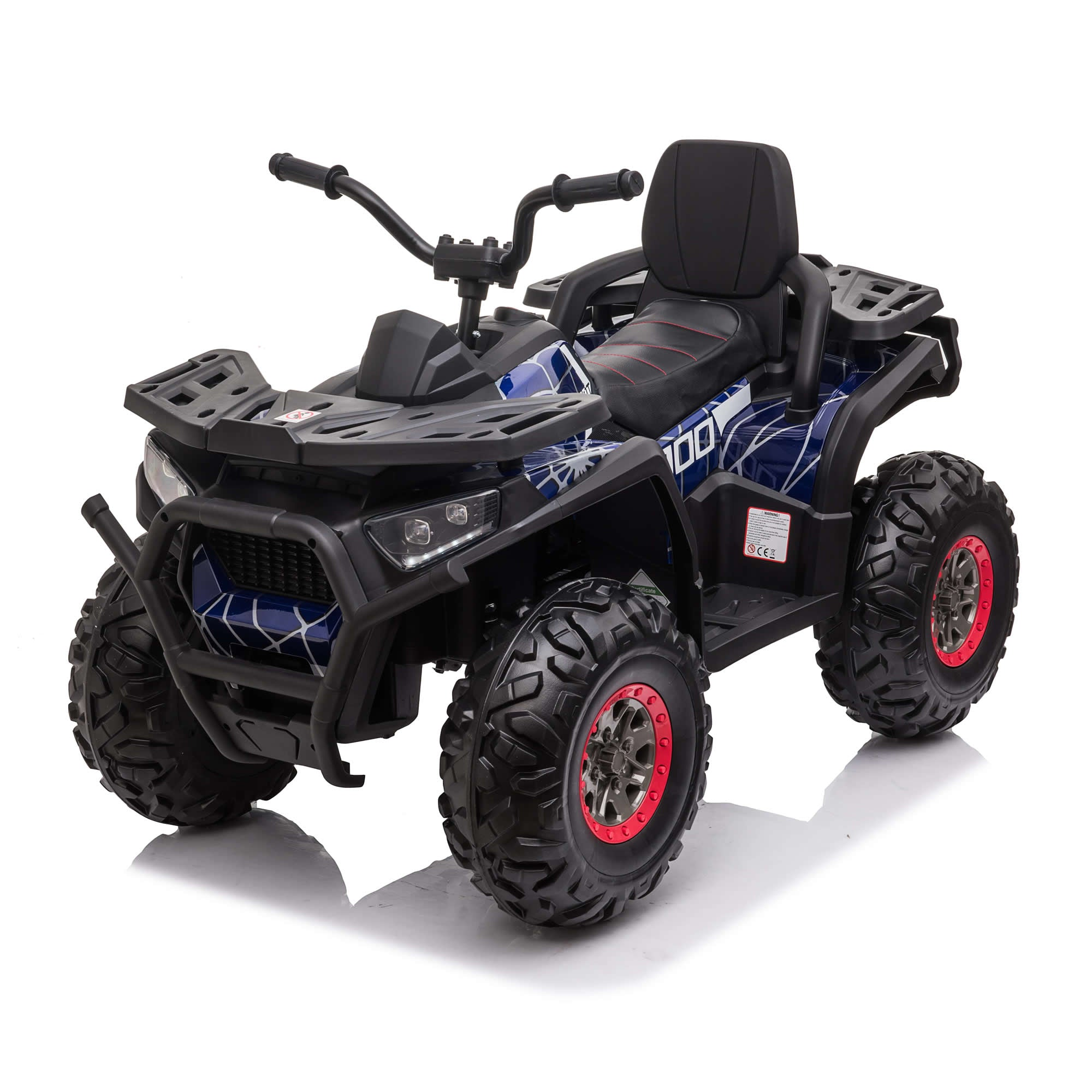 XMX607 Desert ATV 12V with 4 x Motors Electric Ride on Quad Bike - Spyder blue