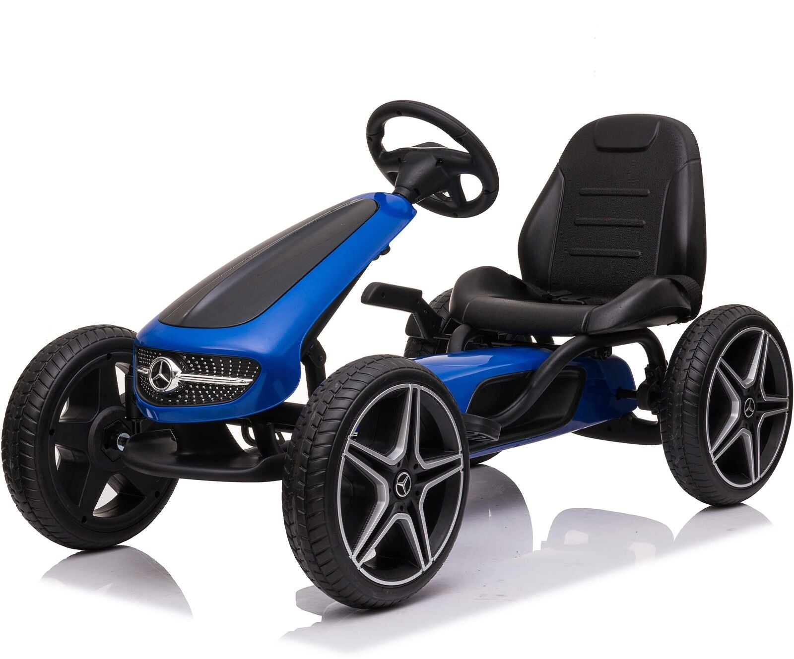 Licensed Mercedes Children's Ride On Pedal Go Kart - Blue