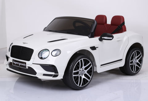 Bentley Continental Sports 12v Kids Electric Ride On Car - White