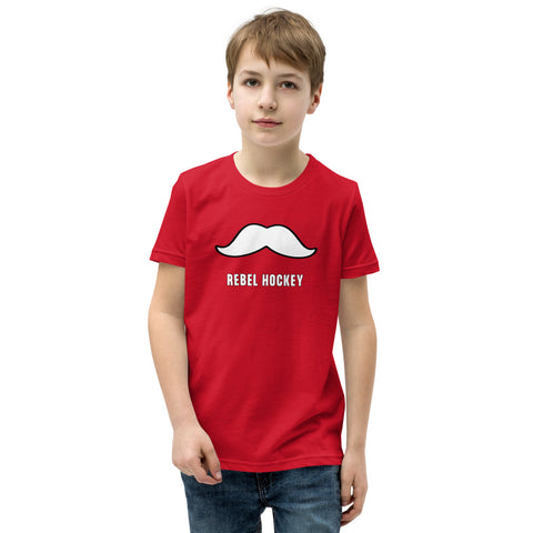 Hey Reb Mustache Youth Short Sleeve T-Shirt