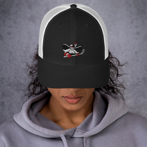 Hockey Hey Reb Trucker Cap