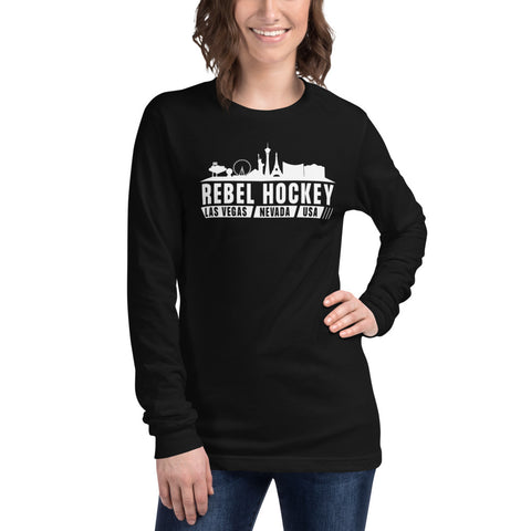 Rebel Hockey x Las Vegas Skyline Unisex Long Sleeve Tee