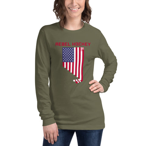 Rebel Hockey x Nevada USA Unisex Long Sleeve Tee
