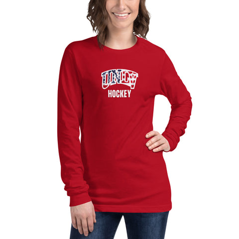UNLV Hockey USA Unisex Long Sleeve Tee