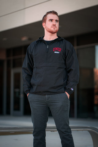 UNLV Hockey Embroidered Champion Packable Jacket