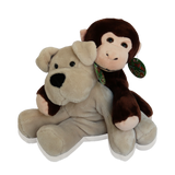 Cuddly Stuffed Animal Gift Set - Dog and Monkey - Care Package