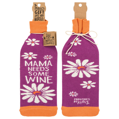 Bottle Sock - Mama Needs Some Wine - The Flying Owl