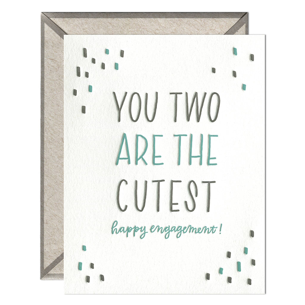 You Two Are the Cutest - greeting card - The Flying Owl