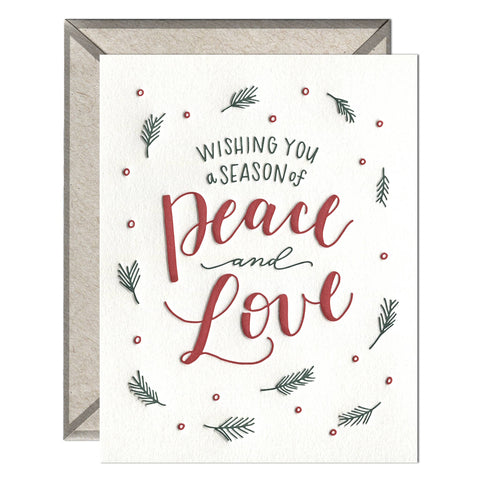 A Season of Peace and Love - greeting card