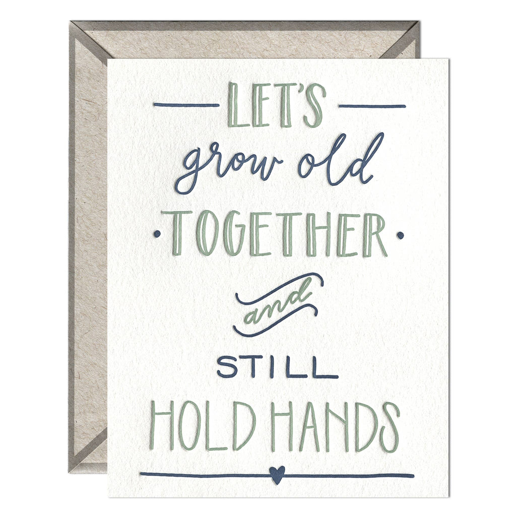 Still Hold Hands - greeting card - The Flying Owl