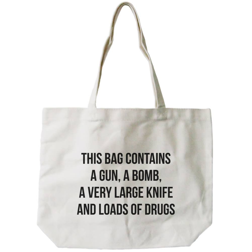 Tote Bag - This Bag Contains Loads of Drugs - The Flying Owl