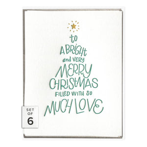Boxed Cards - Christmas Tree Lettering - The Flying Owl