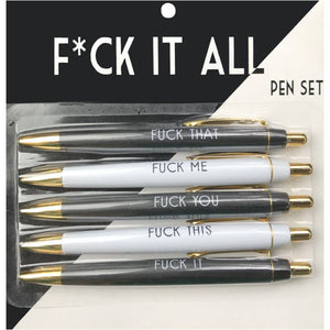 Pen Set - Fuck It All - The Flying Owl