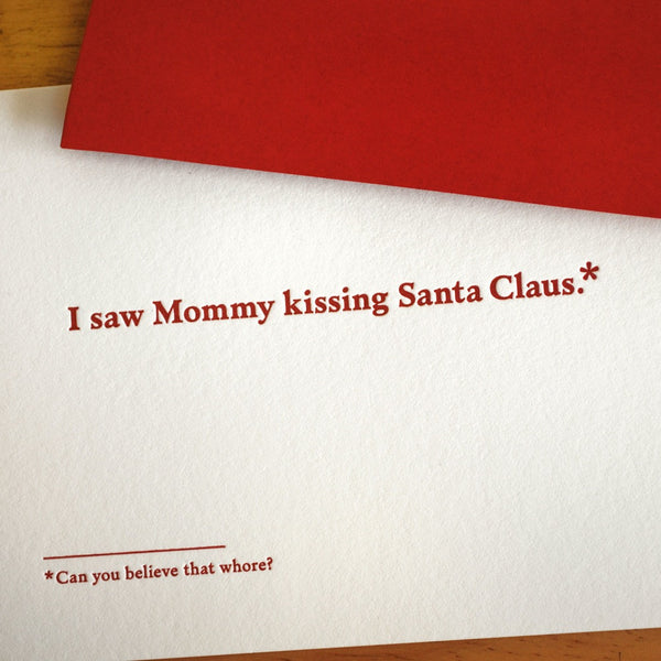 Mommy Kissing Santa - The Flying Owl