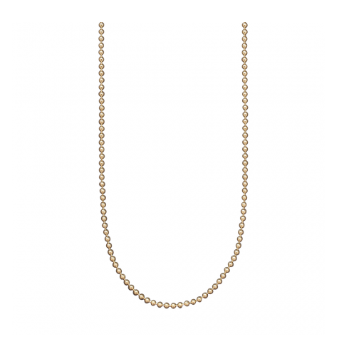 Gold Plated Silver Bead Chain - 18""
