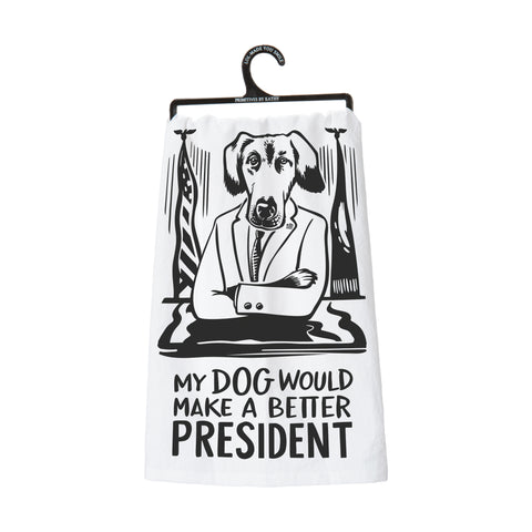 Dish Towel - My Dog / President - The Flying Owl