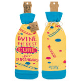 Bottle Sock - Wine The Best Cure - The Flying Owl