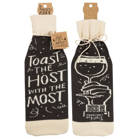 Bottle Sock - Toast The Host - The Flying Owl