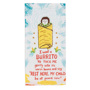 Dish Towel - I Want a Burrito - The Flying Owl