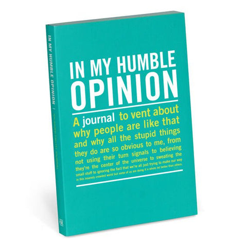 Journal - In My Humble Opinion