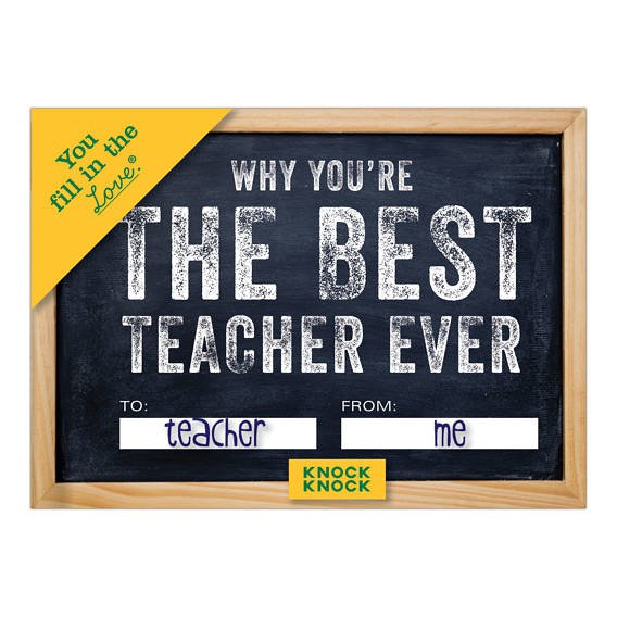 Fill In The Love - Best Teacher Ever - The Flying Owl