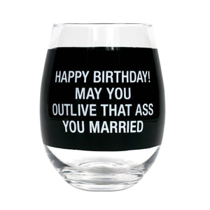Wineglass - Happy Birthday