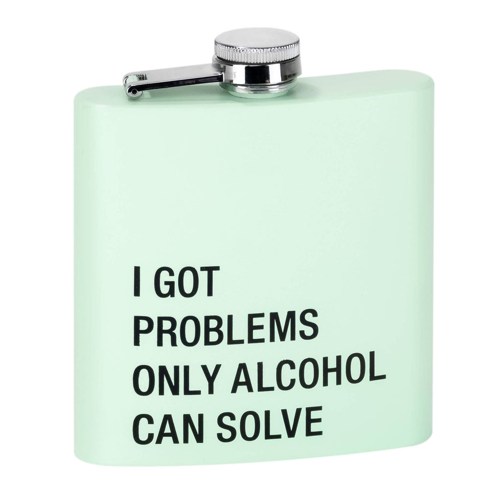 Flask - Problems Only Alcohol Can Solve - The Flying Owl