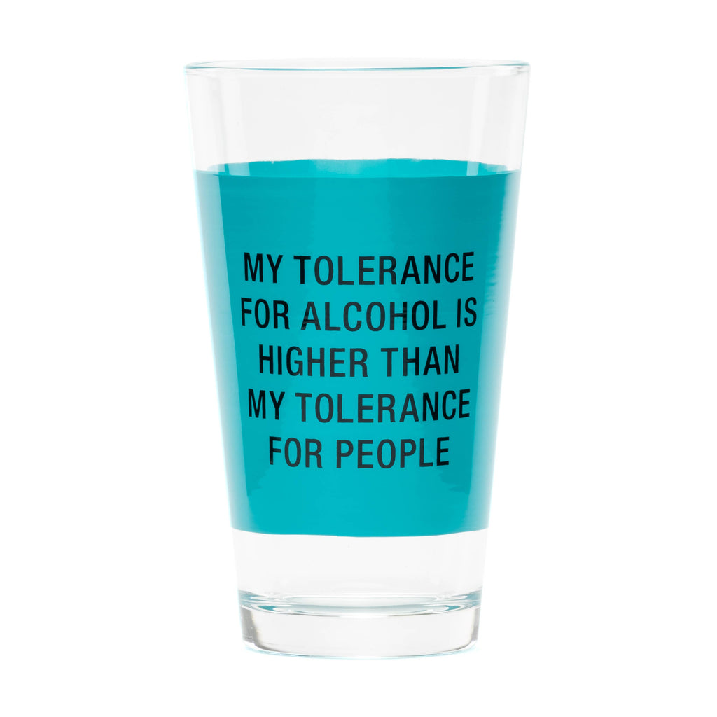 Pint Glass - My Tolerance - The Flying Owl