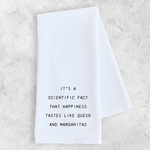 Dish Towel - Happiness Tastes Like Queso - The Flying Owl